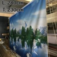 280 cm x 230 cm Tirai Gulung / Roller Blinds Import Bergambar