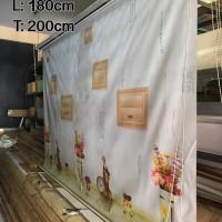 180 cm x 200 cm Tirai Gulung / Roller Blinds Import Bergambar