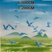 300 cm x 200 cm Tirai Gulung / Roller Blinds Import Bergambar