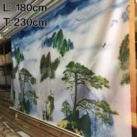 180 cm x 230 cm Tirai Gulung / Roller Blinds Import Bergambar