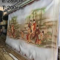 280 cm x 200 cm Tirai Gulung / Roller Blinds Import Bergambar
