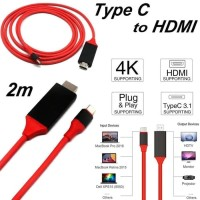 USB TYPE-C TO HDMI CABLE FOR GALAXY S8 S9 MATE 10 Macbook 2017 2M