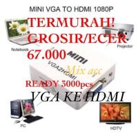 VGA TO HDMI BOX Converter VGA to HDMI Konverter VGA ke HDMI