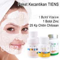 Paket Kecantikan Kulit dan Wajah Vitaline ZInc + Masker Chitosan Tiens