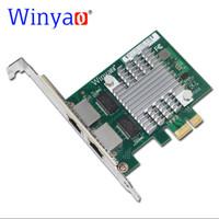Lan Card Intel Dual Port Gigabit Pci Express x1 Winyao E350T2 i350-t2