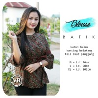 Outer Baju Blazer Batik Wanita Outerwear Atasan Murah Kerja Formal 056d9c425a