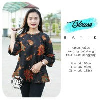 Blouse Batik Atasan Wanita Baju Kemeja Wanita Batik Pekalongan 12 afee61d9dc