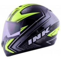 Helm Full Face Double Visor INK CL 1 Shadow Black Yellow Fluo Original