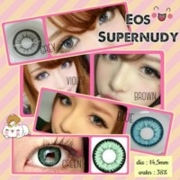VEBE SOFTLENS EOS SUPERNUDY GREEN 14.5MM