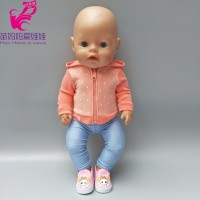 Doll clothes 18 inch doll coat sport outfit set Fit for 43cm Born Baby