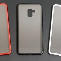 Samsung galaxy a8 plus Premium 2 in 1 magnetic phone case -Transparant