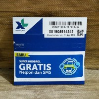 Nomor Cantik 0591 4343 Perdana XL SUPER NGOBROL GRATIS Nelpon SMS