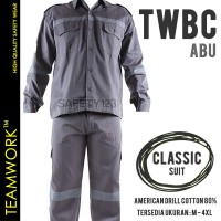 TWBC TeamWork Setelan Baju Celana Kerja Safety Wearpack Classic Abu