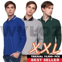 Kaos Polo Shirt Panjang Big Size Pria Kerah Terbaik