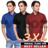 Kaos Polo Shirt Kerah Baju Pria Polos Big Size Lacoste Bahan Gildan