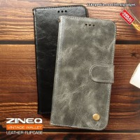 Flip Case Leather ZINEQ Slot Card Cover Case Casing HP Samsung A7 2018