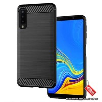 Softcase TPU Black Carbon Cover Case Casing HP Samsung A7 2018 Lentur