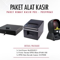 PAKET PRINTER EPPOS EP160II + SCANNER EP2020 + CASH DRAWER 46x42cm