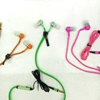 Headset earphone Handsfree + MIC ZIPPER ,Model Sletting