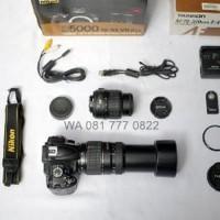 Paket Lebaran Ganteng Kamera DSLR Murah Nikon D5000 kit Paling Laris