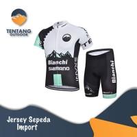 Jersey Sepeda Shimano Bianchi Import Setelan Celana Sepeda Padding