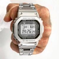 Jam Tangan Pria Casio G-Shock GMW-B 5000 Silver Stainless Steel Ori BM