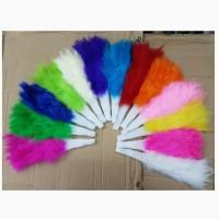 Souvenir Kipas Bulu Tari Tangan Warna Warni Feather Fan