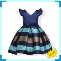 GA2542 JUNALE DRESS BLUE GAUN PESTA ULANG TAHUN ANAK PEREMPUAN KOREA