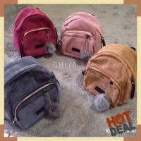 Harga velvet mini backpack tas ransel korea | Hargalu.com
