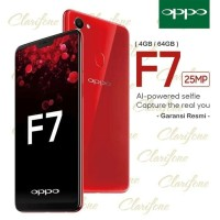 New READY HP OPPO F7 4 64 GB F 7 V7 RAM 4GB INTERNAL 64GB BLACK RED