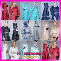 Fashion Gamis Syari Wanita Busui Terbaru Kirey Dress Balotelli Embos