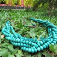 Harga kalung etnik jember tulang sapi model rantai warna toska 01 in | Pembandingharga.com