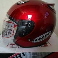 STOK TERAKHIR helm basic model ink Centro merah maron Limited Diskon