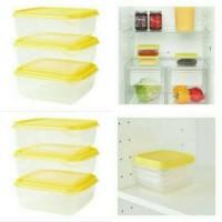 IKEA Pruta Isi 3pcs Penyimpanan Makanan Sayuran Food Co Berkualitas