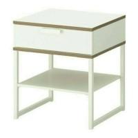 IKEA Trysil Mrja Samping Tempat Tidur 40x45cm Putih Abu Berkualitas
