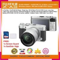 FUJIFILM X-A3 SILVER + XC16-50mm + Screen Guard + SanDisk 16gb