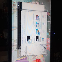 Lcd komputer merek zyrex 18.5 inch