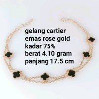 gelang wanita cartier emas rosegold kadar 75 persen 4.10 gram