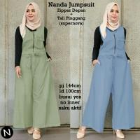 70116 Nanda jumpsuit (hijau,biru) Stellashoppie