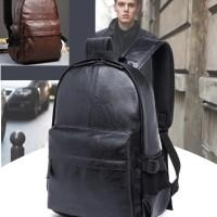 Tas ransel punggung kulit pria / Tas cowok bodypack laptop import