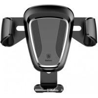 Baseus Air Vent Smartphone Car Holder Mobil Metal Design - SUYL-01 - B