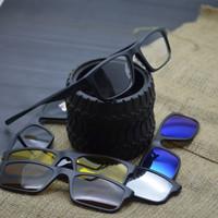 frame kacamata minus KACAMATA pria CLIP ON 2256 5 lensa hitam 6796508a60
