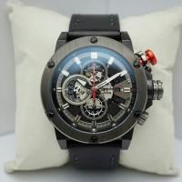 Jual Jam tangan pria Alexandre Christie AC 6491 MC LEPBA Tali Kulit Murah