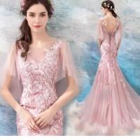 103 AN S49 Gaun Pengantin Ekor Baju Pengantin Wedding Dress Euro 2017