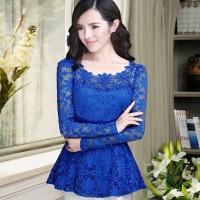 TOP CINDY/DRESS BRUKAT/BLOUSE BROCADE/ATASAN WANITA