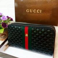 Dompet Guccii Gean 2 Super kulit embos 20 x 10 cm import
