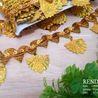 Renda Lace Emas Bahan Fashion ( 9 meter ) |kode 6906# Gold