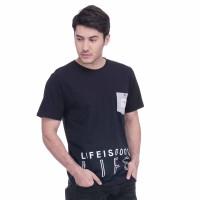 SEYES 1037 Tumblr Tee T-Shirt Kaos Cowo Katun Premium Hitam