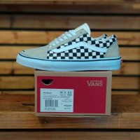 Sepatu VANS Old Skool Checkerboard Off White Black Premium BNIB 3655943cc2
