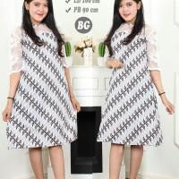 baju blus batik tunik brokat / baju atasan batik wanita / terbaru